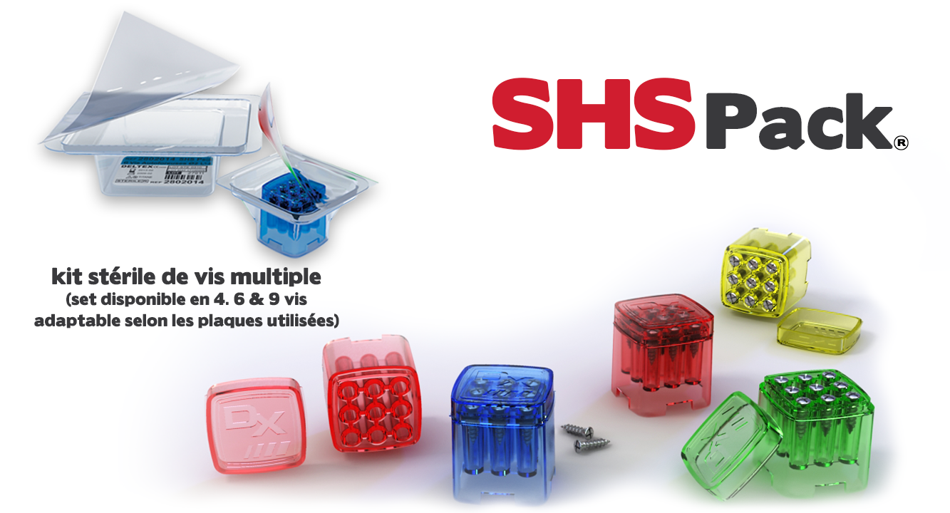 SHS - Sterile Holder Screw ( sets unitaires stériles ) shs pack
