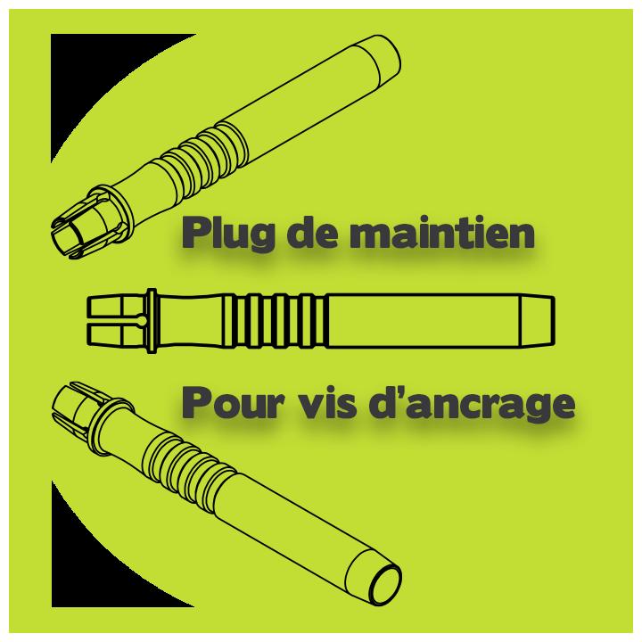 plug pour Minivis d'ancrage orthodontique DX-OMIA System