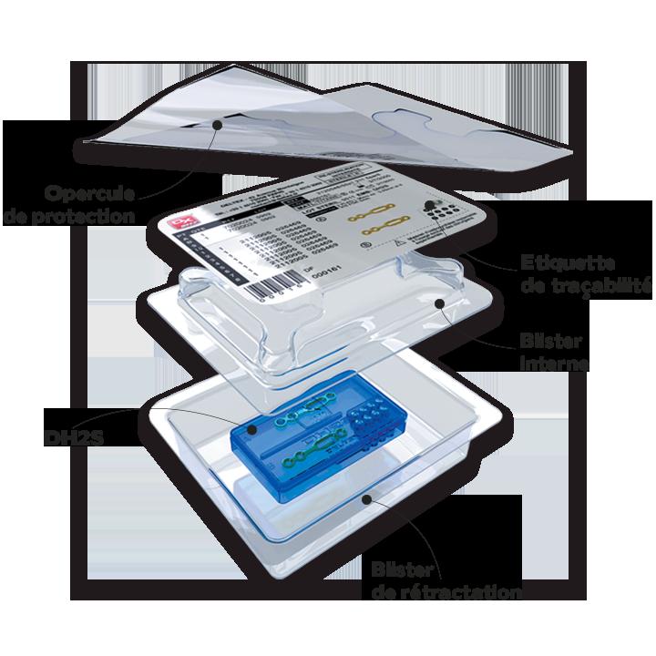 DH2S set stérile de plaques & de vis schéma blister